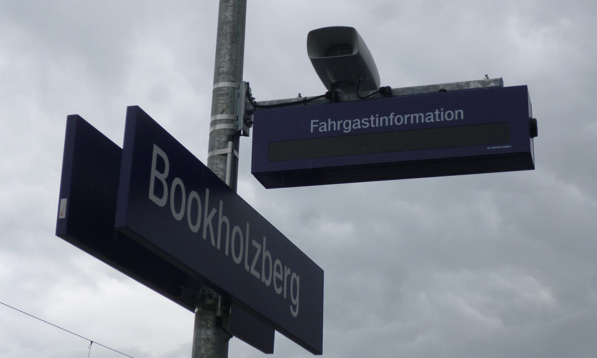 Bahnhof Bookholzberg Anzeige