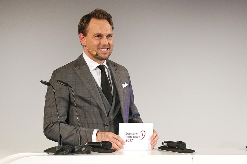 Steven Gätjen beim 15. Deutschen Hörfilmpreis am 21. März 2017