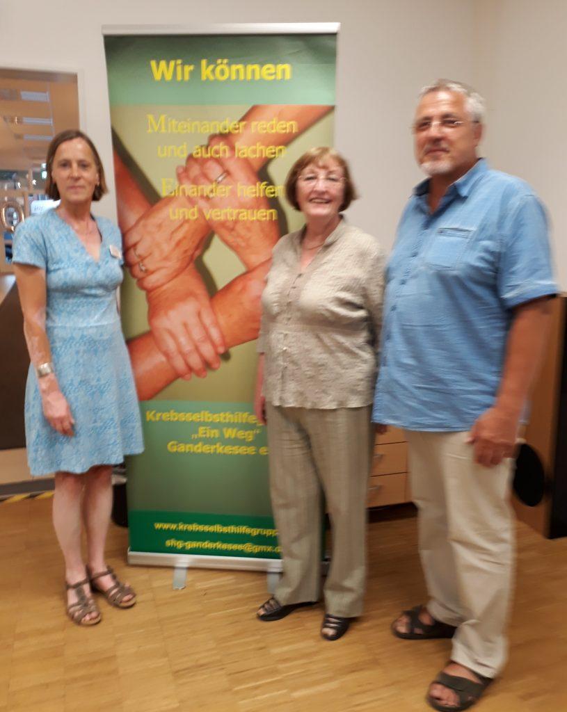 Sabine Bretzke, ASG/ Patricia Sahlmen, SHG Ein Weg/ Werner Schulzek, SHG Ein Weg